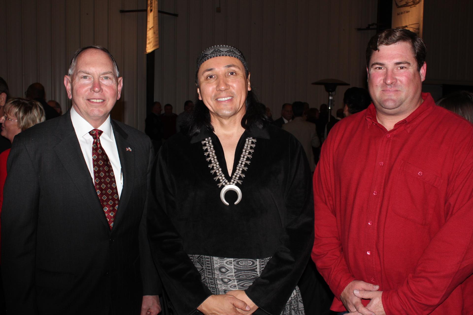 Senator Richard D. Roth with Ramona play performer and Jaeger Jones