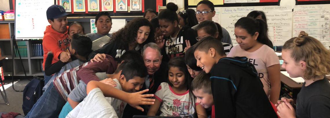 Senator Roth visiting an elementary school