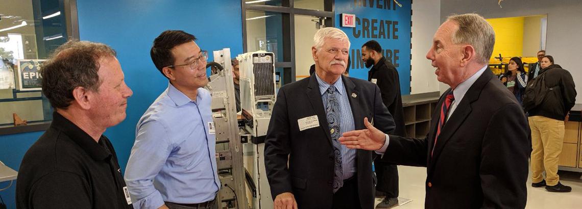 Senator Roth Visiting a Factory